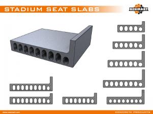 10-STADIUM SEAT SLAB